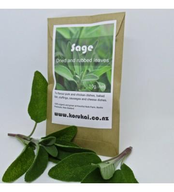 Organic sage, dried